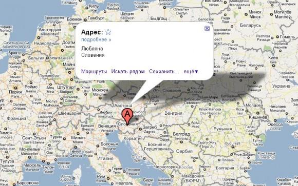 Словения на карте