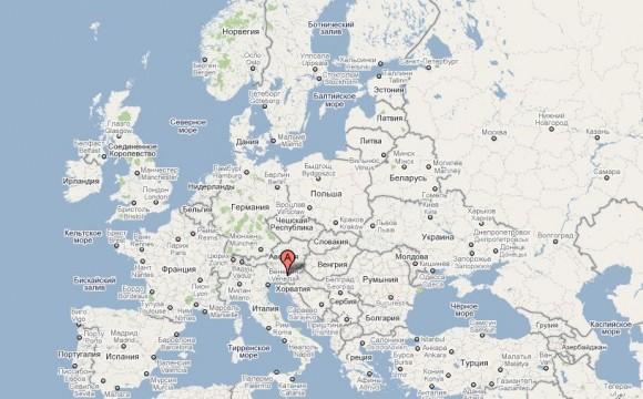 Словения на карте Европы