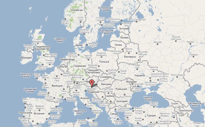 Sloveniya Na Karte Evropy Infokart