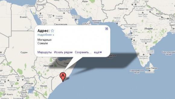 Cомали на карте мира
