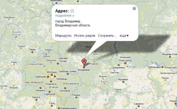 Владимир на карте России