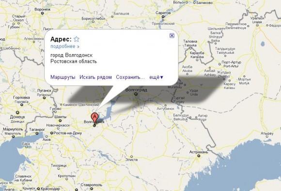 Волгодонск на карте России