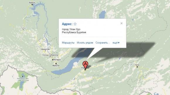 Бурятия на карте России