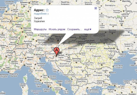 Хорватия на карте мира