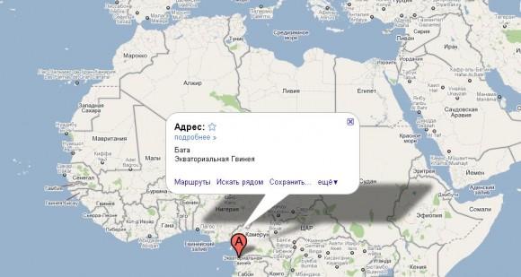 Экваториальная Гвинея на карте