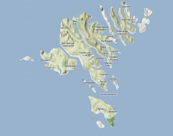 Карта Фарерских островов