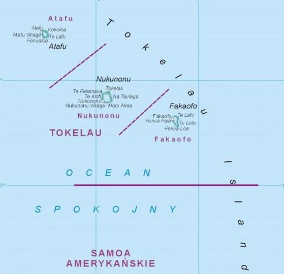 Карта Токелау