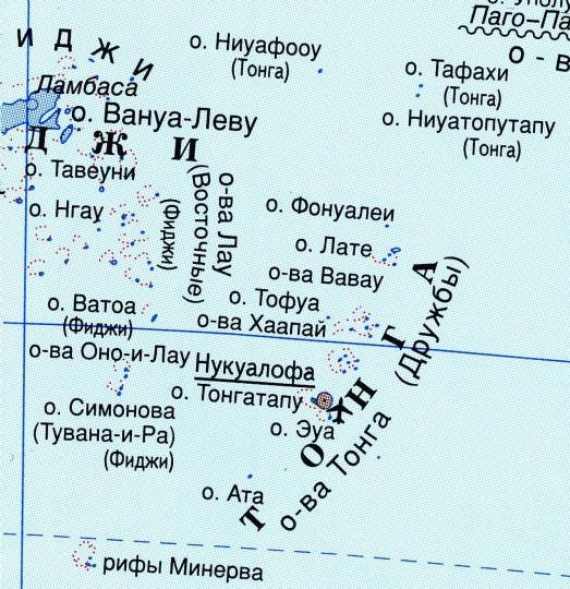 Карта Тонга