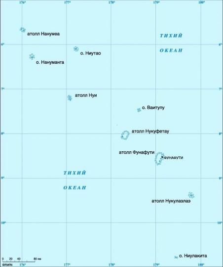 Карта Тувалу