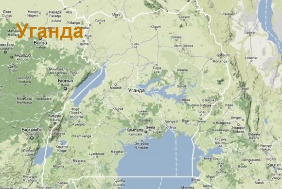 Карта Уганды