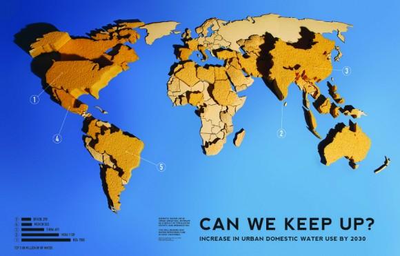 Нехватка воды Карта