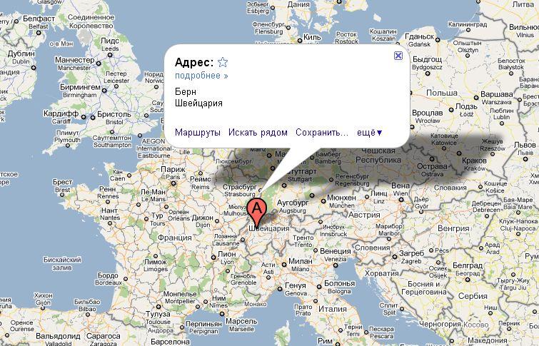 Где находится швейцария на карте мира