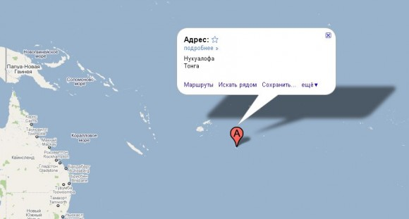 Тонга на карте мира