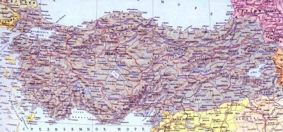 Турция. Карта городов