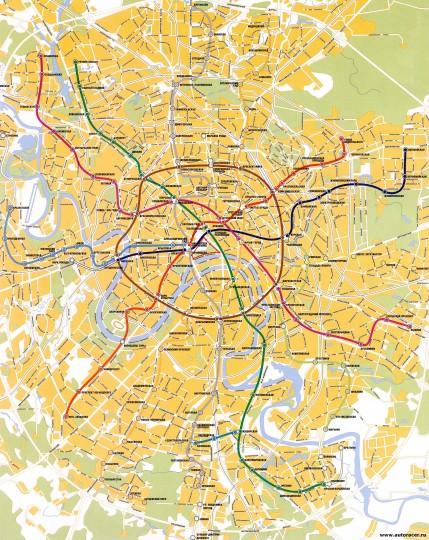 Большая карта Москвы