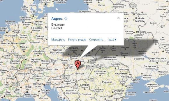 Будапешт на карте мира