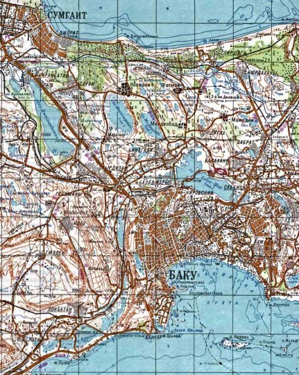 Карта Баку с улицами