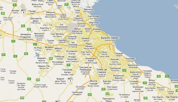 Карта Буэнос-Айреса на русском языке