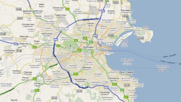 Карта Дублина