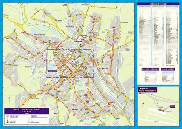 Карта Кишинева с улицами