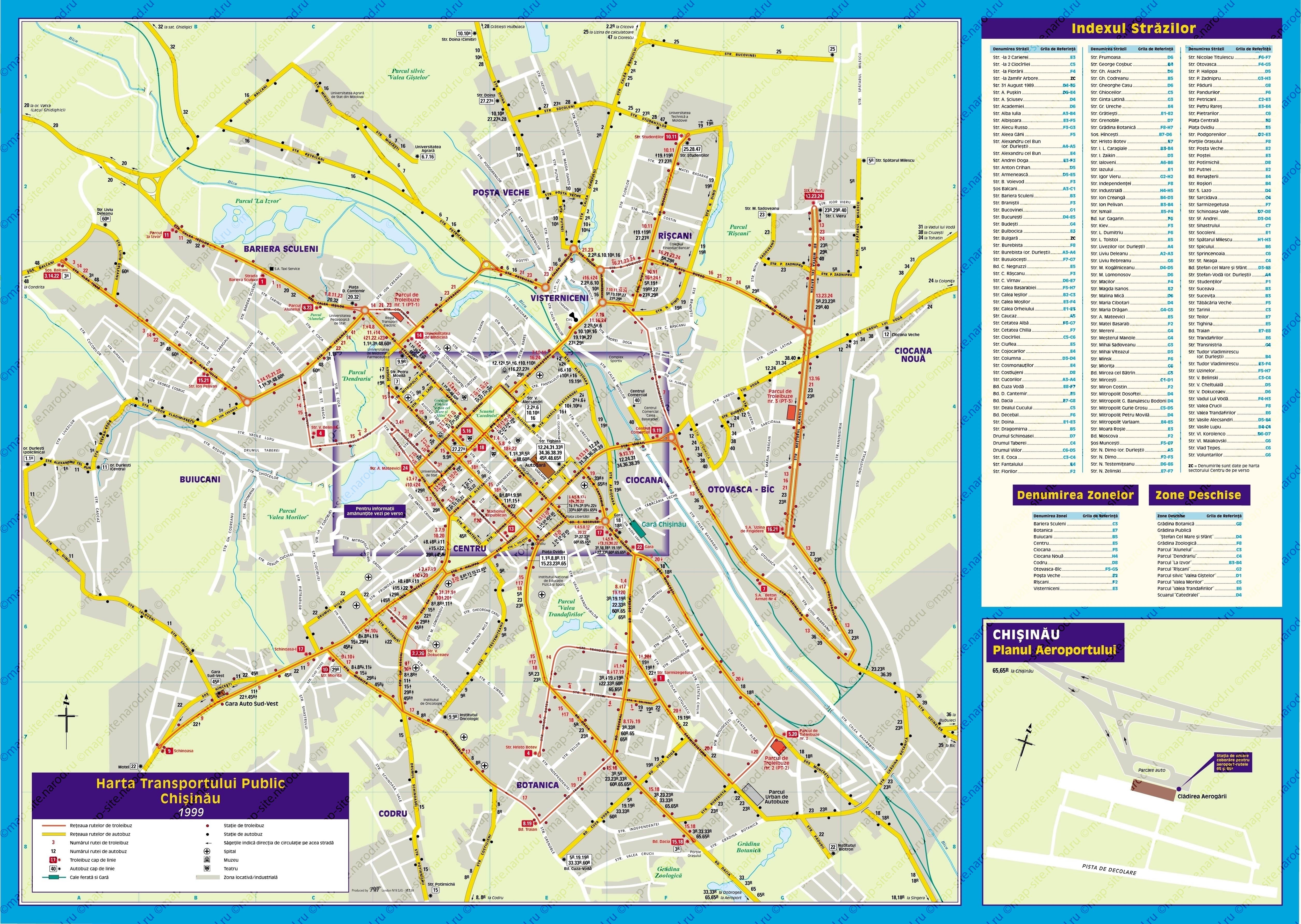 Карта Тель Авива С Улицами На Английском