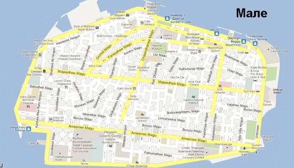 Карта Мале