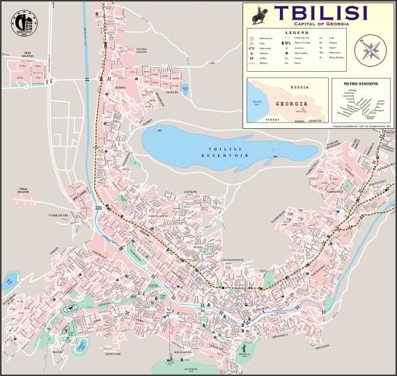 Карта улиц Тбилиси