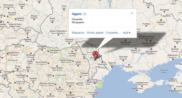 Кишинёв на карте