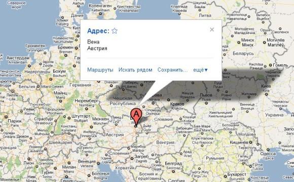 Вена на карте