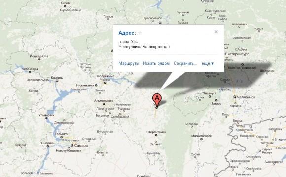 Башкортостан на карте