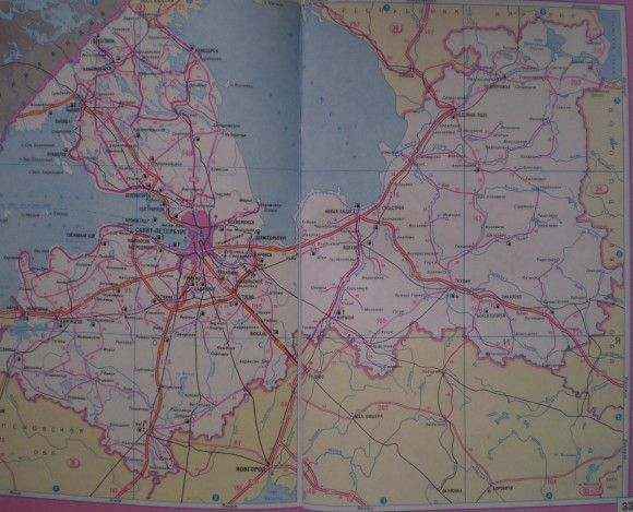 Карта дорог Ленинградской области