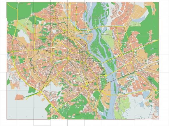 Карта Киева. Улицы и дома
