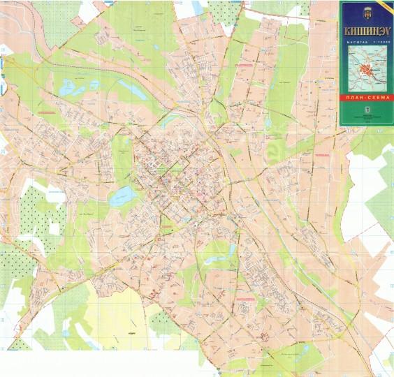 Карта Кишинева с номерами домов