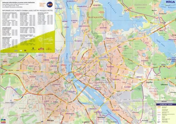 Карта Риги с номерами домов