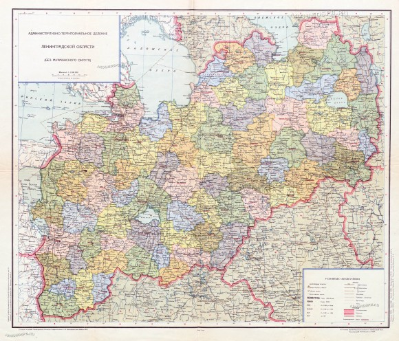 Карта СПБ и Ленинградской области