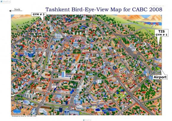 Карта Ташкента с домами