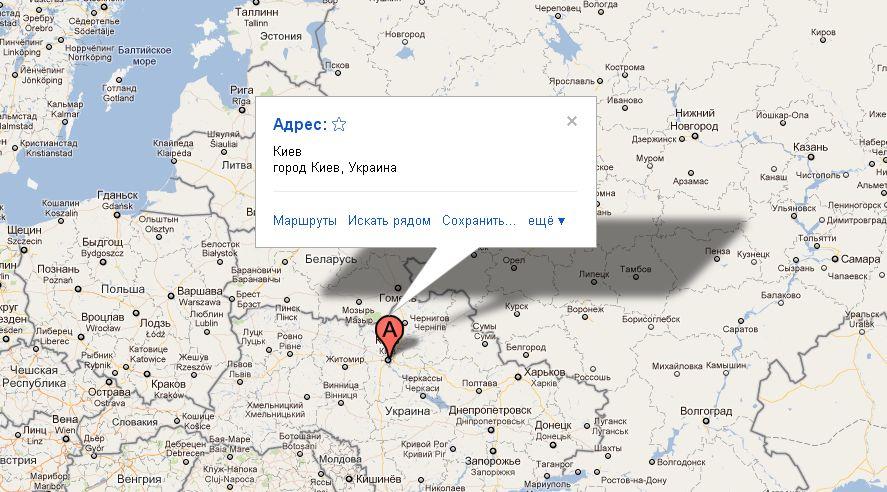 Карта Киева Улицы