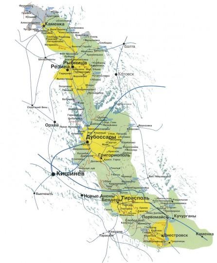 Приднестровье карта