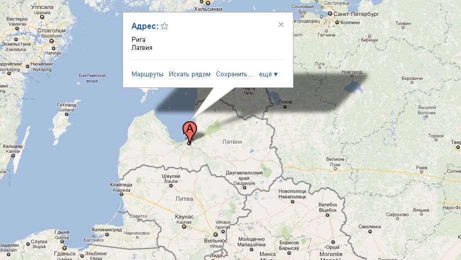 рига на карте европы