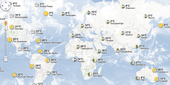 погода в мире карта
