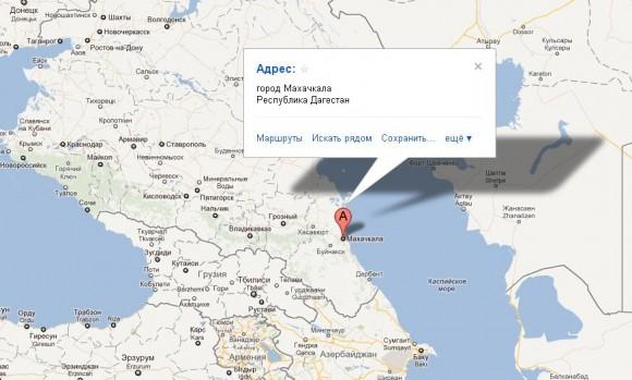 Республика Дагестан на карте