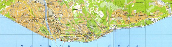 Карта дорог Сочи