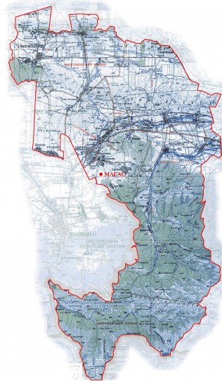 Карта Республики Ингушетия