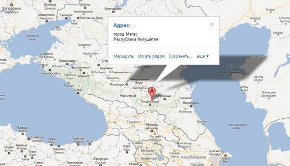 Республика Ингушетия на карте