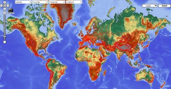 Интерактивная карта мира физическая географическая политическая