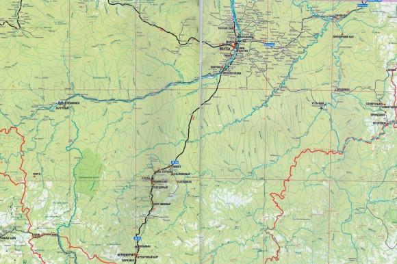 Карта дорог Якутии