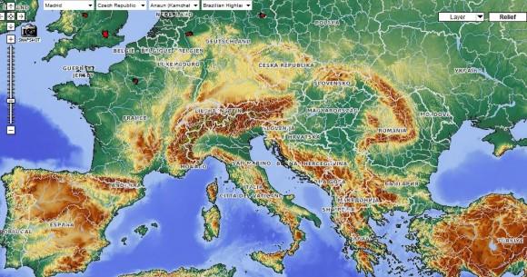 Карта Европы географическая политическая
