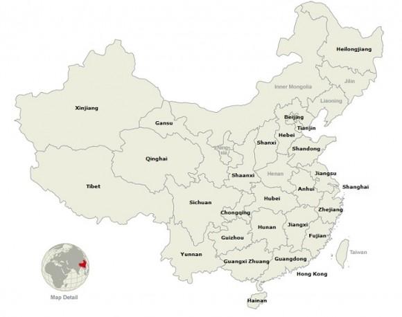 Области Китая карта фото