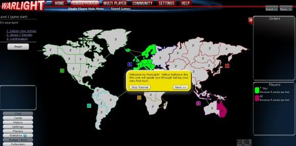 Игра на карте Warlight