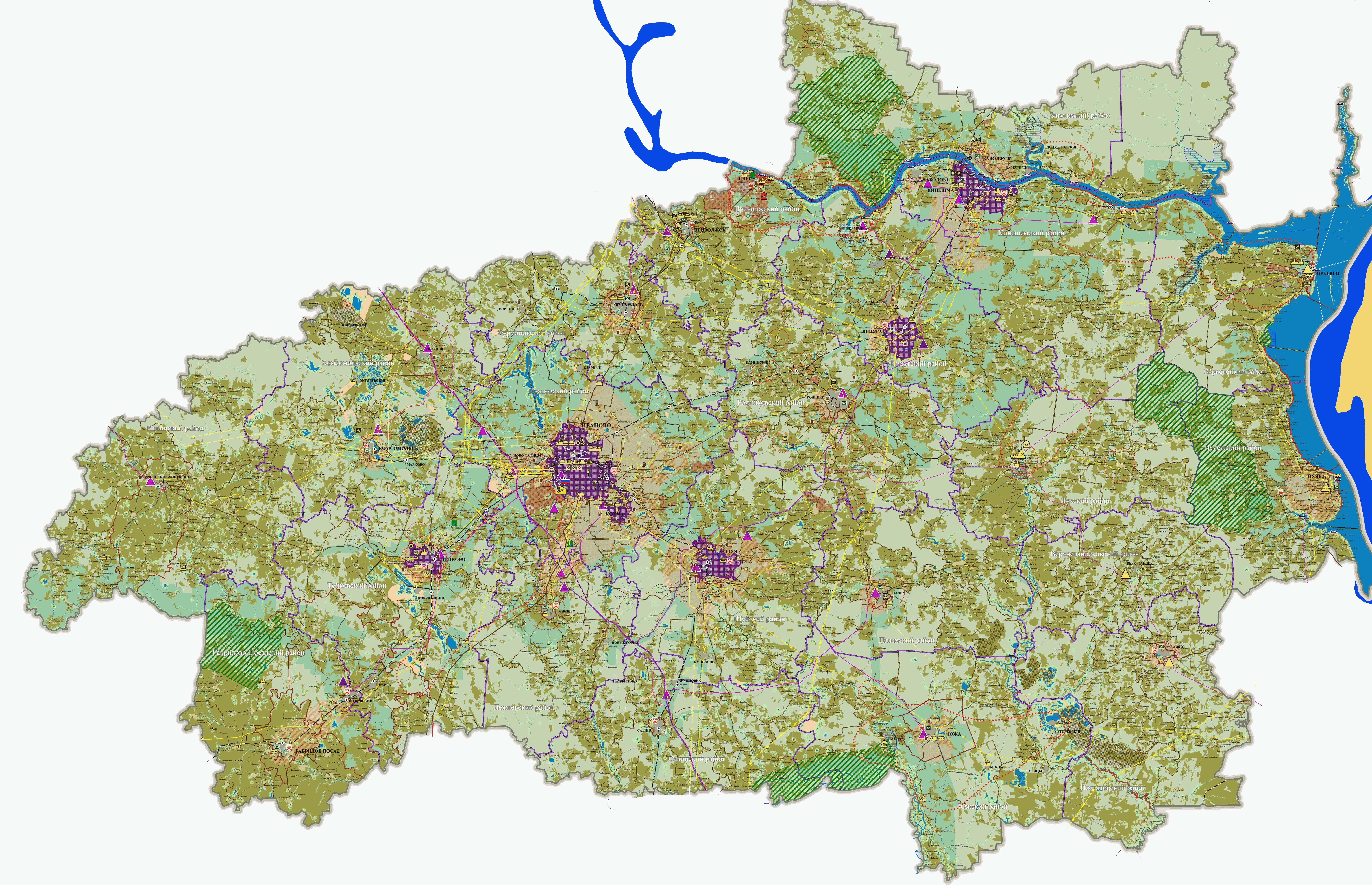 Карта Ивановской области — Инфокарт